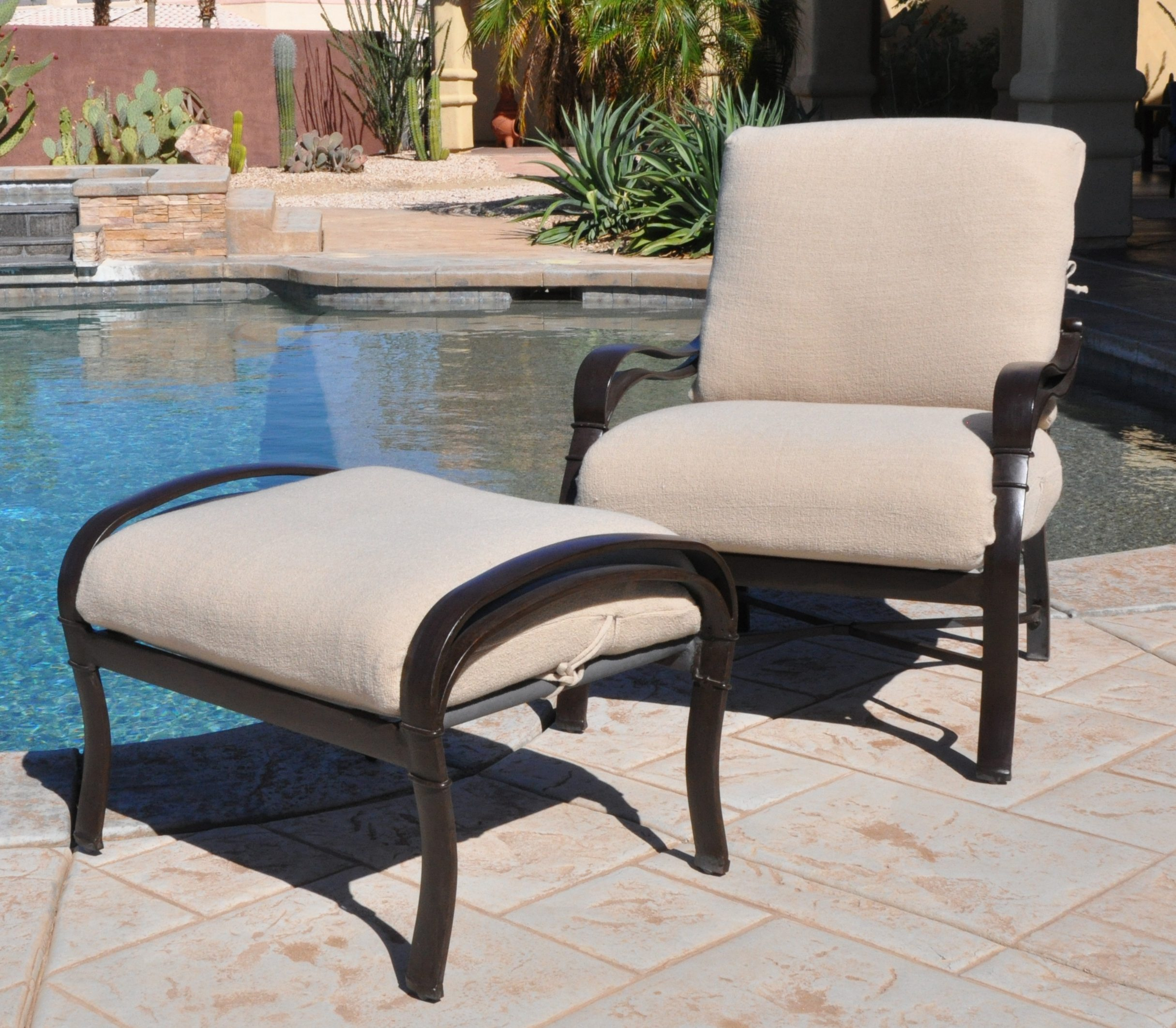 Outdoor Deep Seat Cushion Slipcovers (2 Piece)
